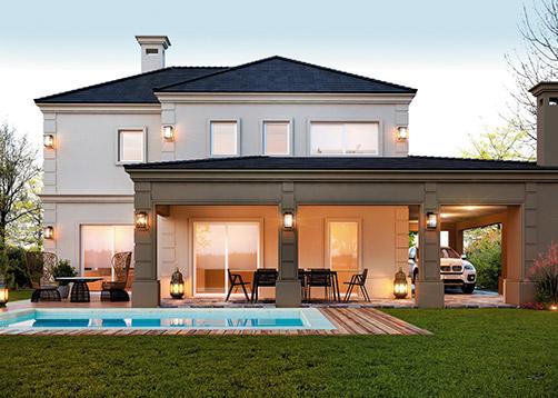 Front Elevation Duplex House : Estudio nf y asociados casa estilo clásico moderno