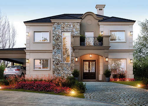 Estudio nf y asociados casa estilo cl sico moderno for Sims 2 mansiones y jardines