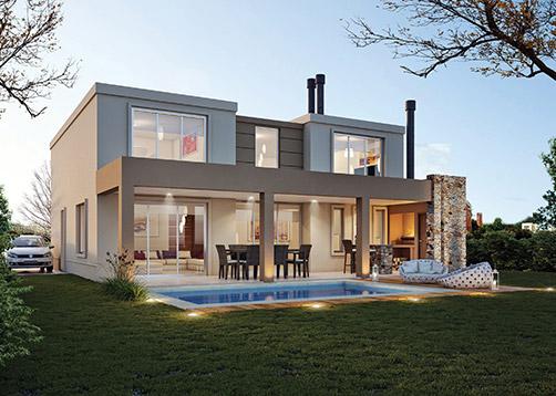 Estudio nf y asociados casa estilo actual arquitecto for Casas modernas grandes por dentro