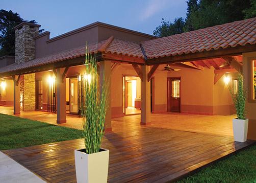 Perretta ocampo arquitectura casa estilo campo moderno for Casa moderna de campo