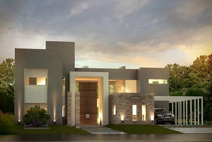 Inarch arquitectura construcci n casa estilo actual for Casa moderna bella faccia