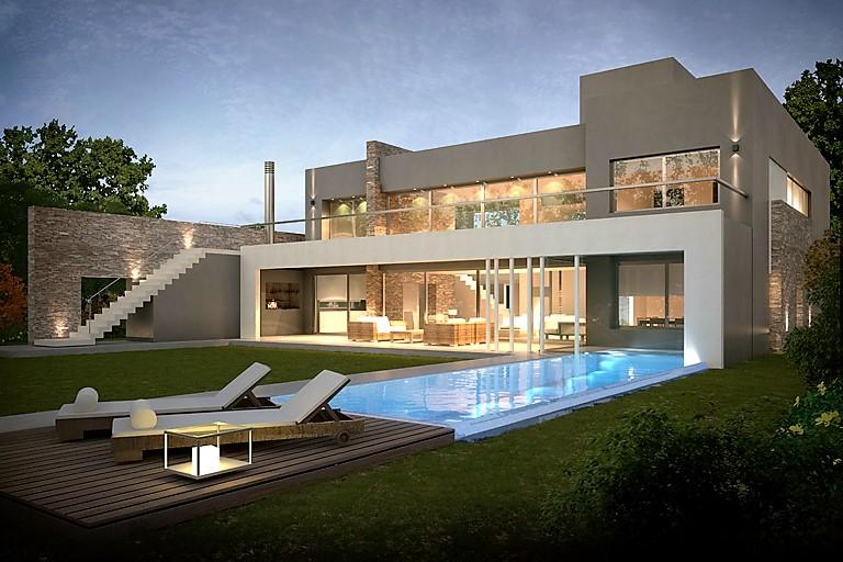 Inarch arquitectura construcci n casa estilo actual for Fabrica de sillones modernos en buenos aires