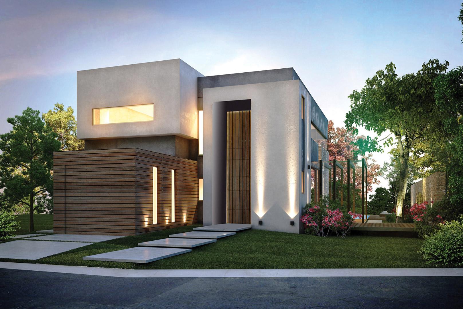Inarch arquitectura construcci n casa estilo actual for Construcciones minimalistas