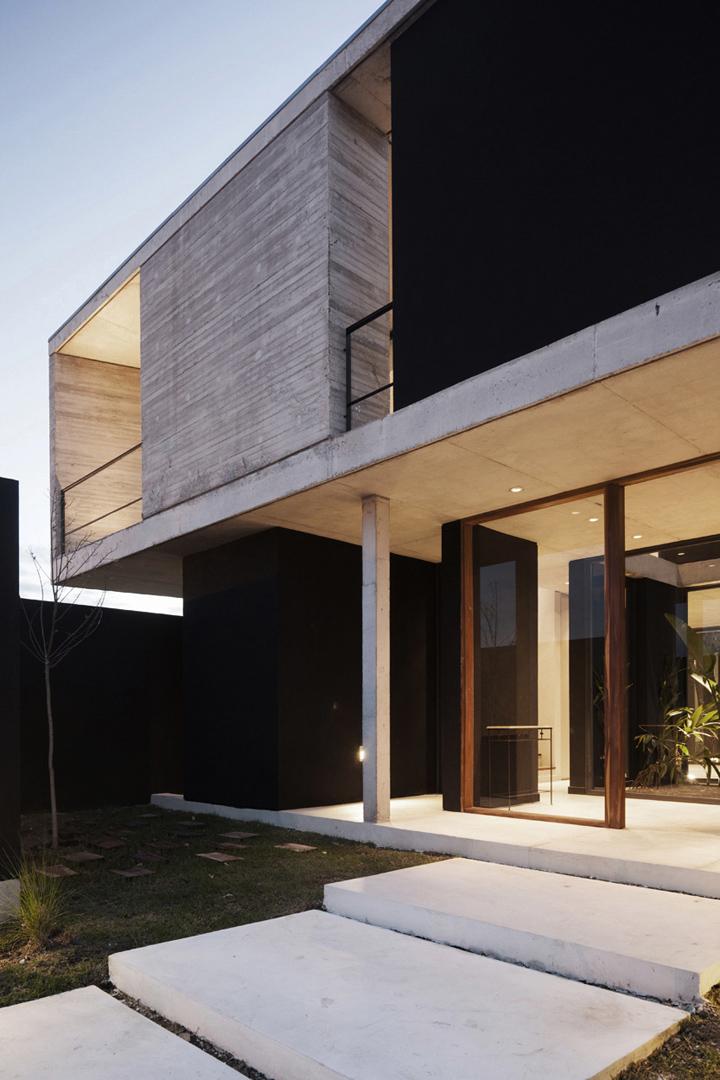 Amado cattaneo arquitectos casa estilo actual for Casas residenciales minimalistas
