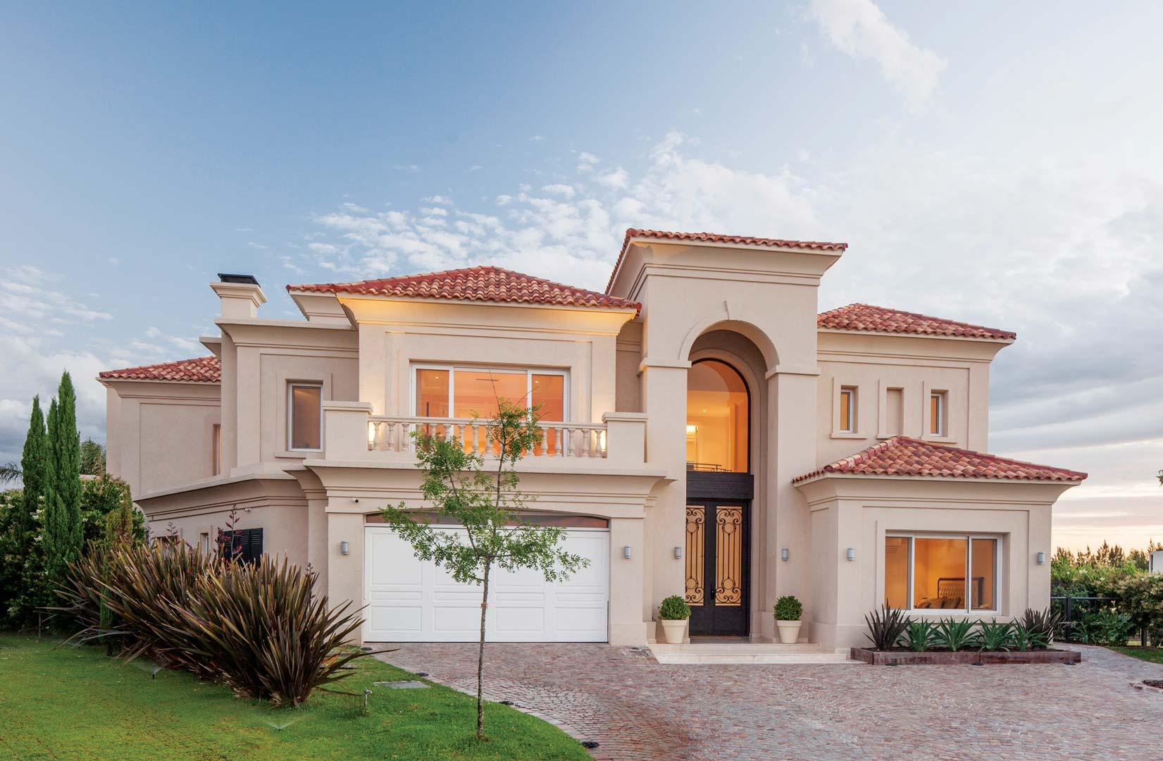 Apa arquitectura casa estilo italiano aggiornado for Fachadas de casas estilo clasico
