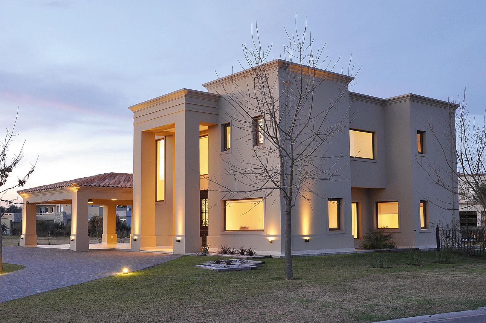 Arquitecto daniel tarrio casa 8 estilo cl sico Casa clasica moderna