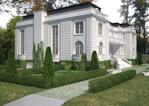 A rarquitectos casa estilo cl sico franc s portal de for Decoracion casa clasica moderna