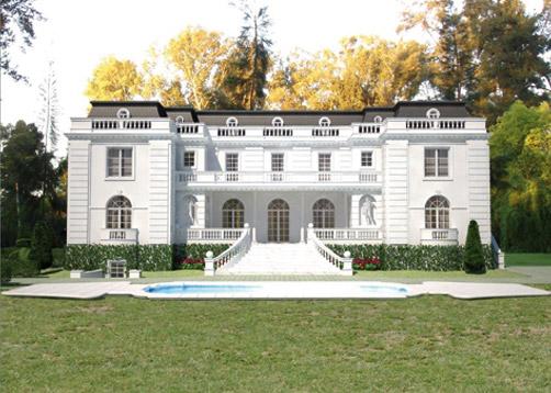 A rarquitectos casa estilo cl sico franc s portal de - Casas estilo frances ...