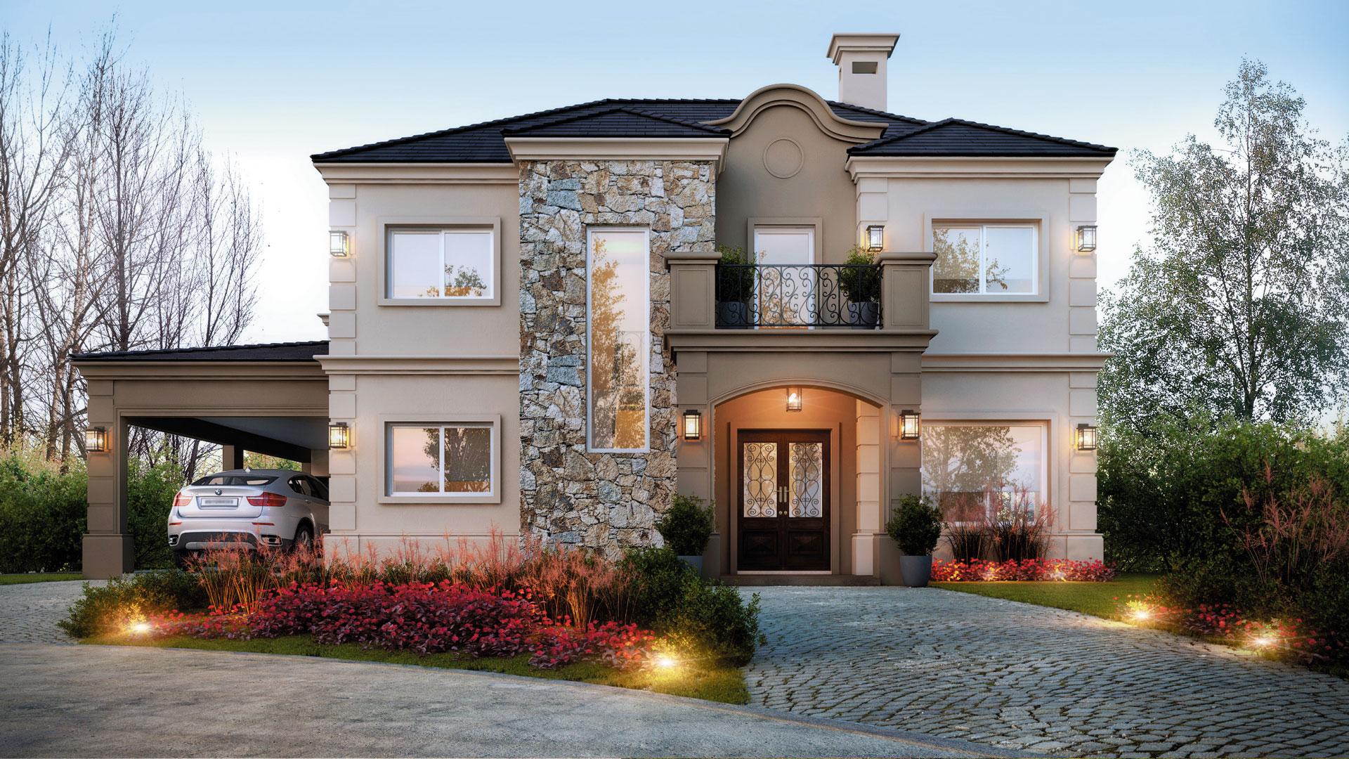 estudio nf y asociados casa estilo cl sico moderno