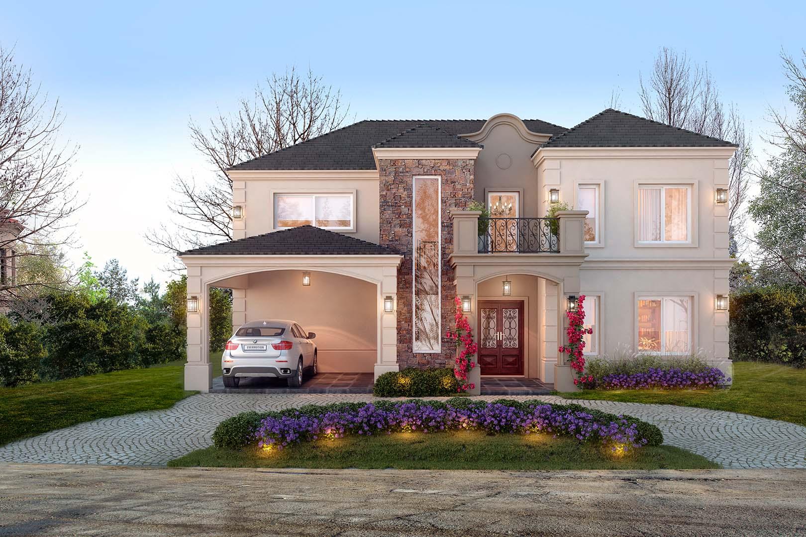 Estudio nf y asociados casa estilo cl sica portal de for Casa moderna classica