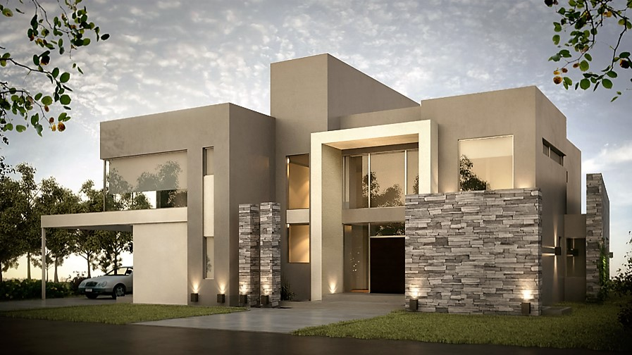 Inarch arquitectura construcci n casa estilo actual for Construccion de casas en terrazas