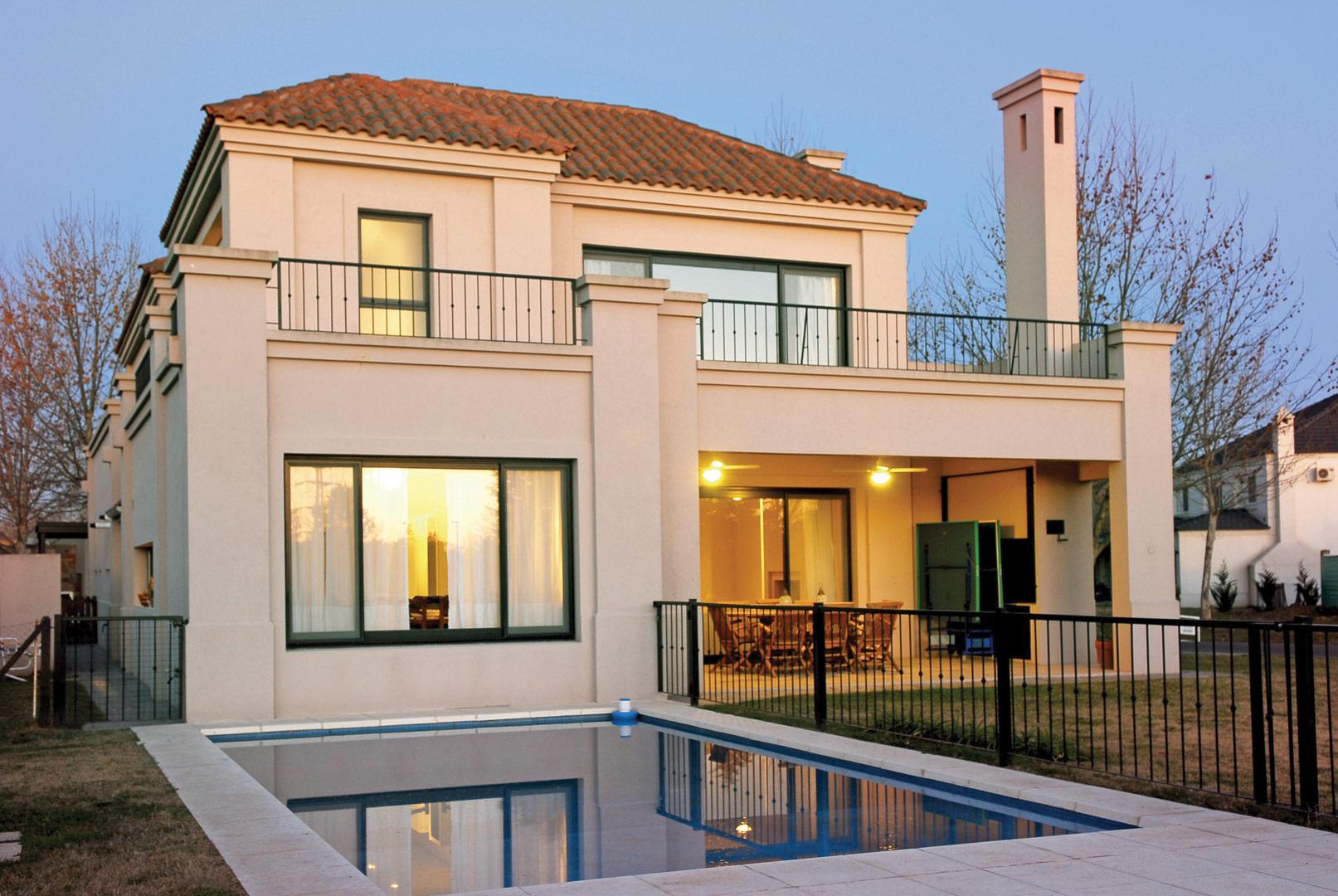 Marcela parrado arquitectura casa estilo neocl sico for Estilos de casas arquitectura