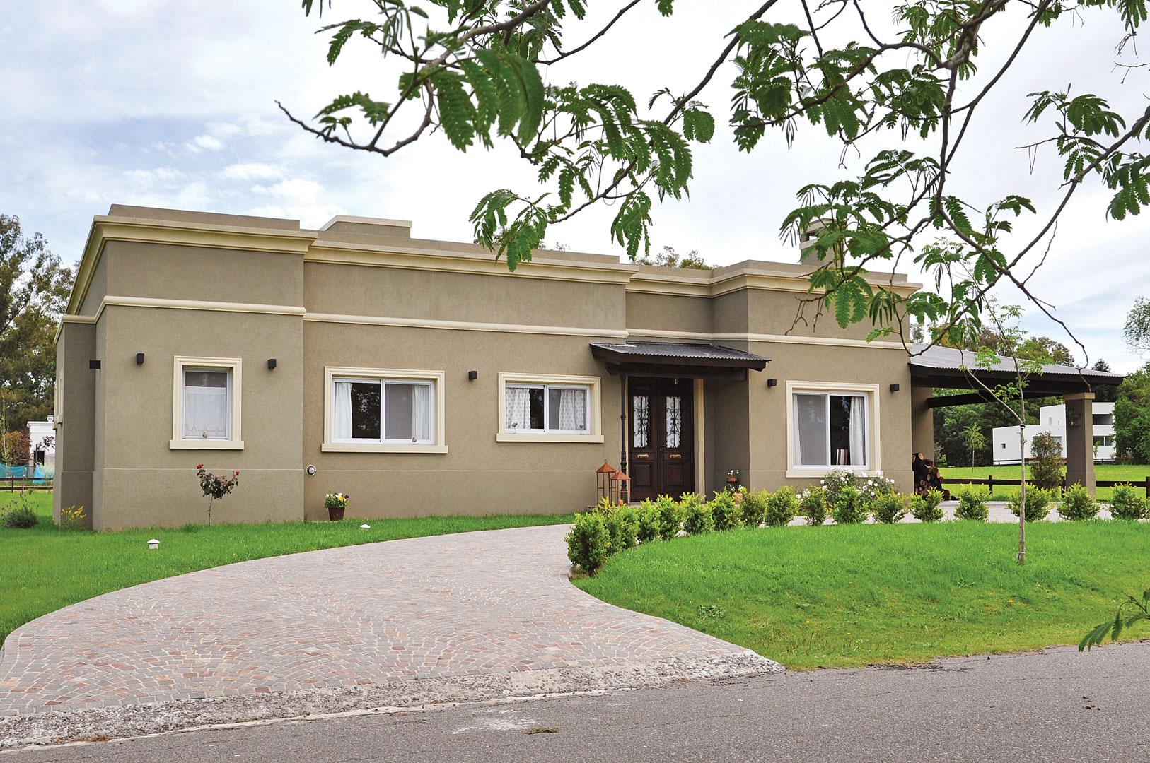 techos para casas de campo latest fachada de casa para